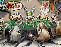 Bunnies Playing Poker