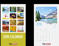 13 Pages Colorful 2019 Calendar