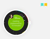 calendar / clock - android wear concept app