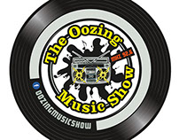 Logo- and sticker design for The Oozing Music Show