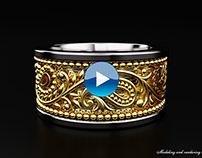 "Indian ""Paisley""ring turntable animation."