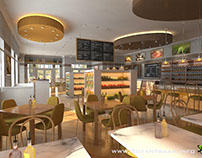 Interesting 3D CGI Design For Food Court