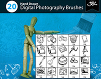 20 Hand Drawn Digital Photography Brushes