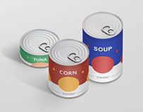Food Tin Can Mockup Bundle