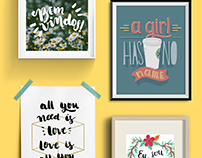 Lettering and caligraphy collection
