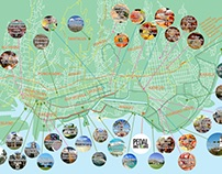 Waikiki Bicycle Map Illustration (Pedal Bike Tours)