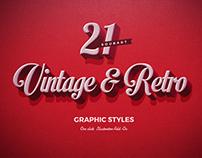 21 Vintage & Retro Graphic Styles | DOWNLOAD |