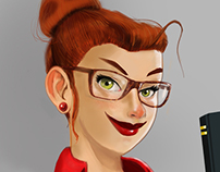 Librarian Pin up - Work in Progress