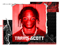 Travis scott collage design