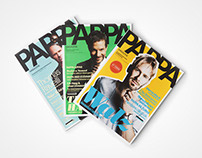 Art direction and visual identity of Pappa magazine