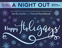 """Happy Holigays"" Planned Parenthood poater"