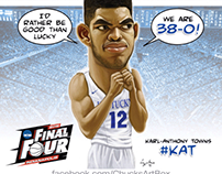 Karl-Anthony Towns caricature