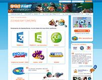 Mise en page site SpeakyPlanet