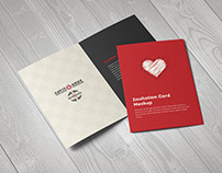 Invitation / Greeting Card / A5 Brochure Mockup