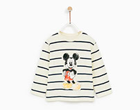 Zara Baby Boy AW 17 - Watercolor Mickey Print