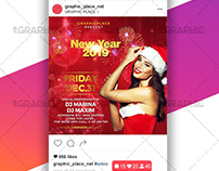 New Year Night - Animated Flyer PSD Template