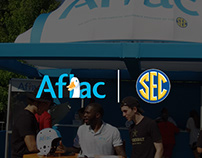 Aflac event booth for SEC Fan Fair 2019