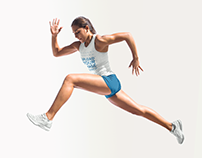 Track and Field Uniforms - Girl Jumping Solid BG
