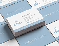 Chi School logo and brand design