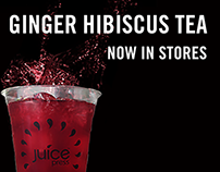 Ginger Hibiscus Tea on Tap for Juice Press