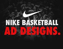 Nike Basketball Ad Designs