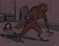 Werewolf Short Film Concept Art