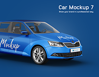 Skoda Fabia Estate Car Mockup