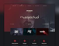 Разработка дизайна сайта музыкального фестиваля