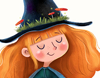 Little witch + illustration creation process