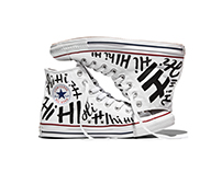 Converse Hand Lettered Shoes