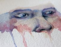Contemporary Portrait   Watercolour Painting
