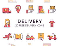 Delivery Vector Free Icon Set