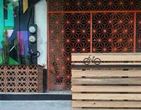 Bancas + Jardineras + Bikeparking
