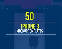 50+ iPhone 8 Mockup Templates
