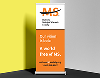 National MS Society Tradeshow Roll-Up Banner