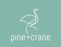 PINE+CRANE Logo and Packaging Design