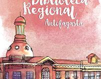 Afiche aniversario biblioteca regional Antofagasta '15