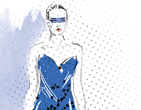 Fashion illustration for print