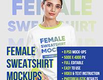Female Sweatshirt Mockups Vol.1
