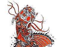 Steampunk Koy Fish