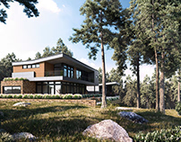 The House In The Pine Forest_Render LeHong Design.