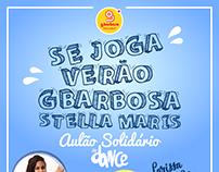 """Cartaz """"Aulão Solidário FitDance"""""""