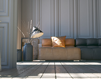 B&B ITALIA Interior Render Design +