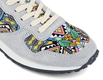 New Work ! New print on shoes for Inkkas (USA)