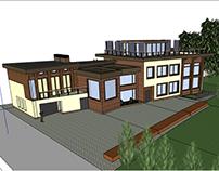 проект фасада частного дома