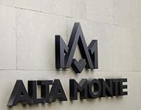 Alta Monte logo and identity
