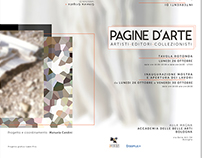 PAGINE D'ARTE. Poster and brochure design