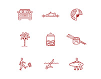 Crimson Goods Icon Set