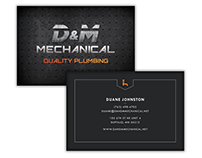 D&M Mechanical Branding and Logo Design