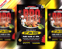 BBQ Party Flyer Design PSD